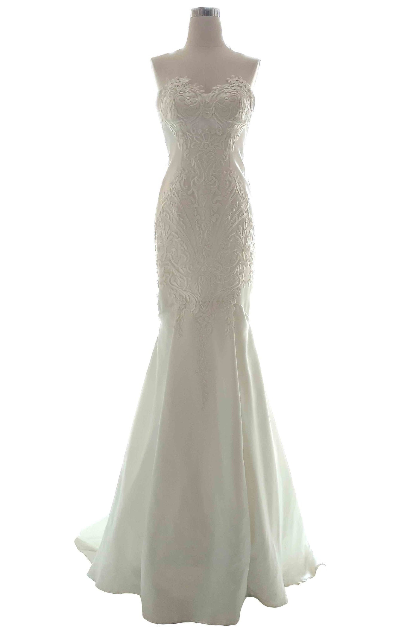 Rent: Private Label - Strapless Embroidered Wedding Gown