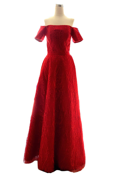 Rent: Private Label - Red Sabrina Gown