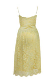 Rent: Private Label - Yellow Green Lace Midi Dress
