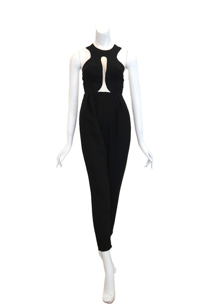 Rent: Peggy Hartanto Black Halter Jumpsuit
