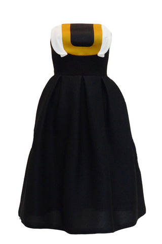 Sale: Peggy Hartanto Black Strapless Midi Dress