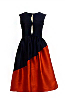 Rent: Peggy Hartanto Red and Blue Midi Dress