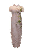Rent: Priscillia Salim Couture - Pink Lace Cheongsam with Tassels