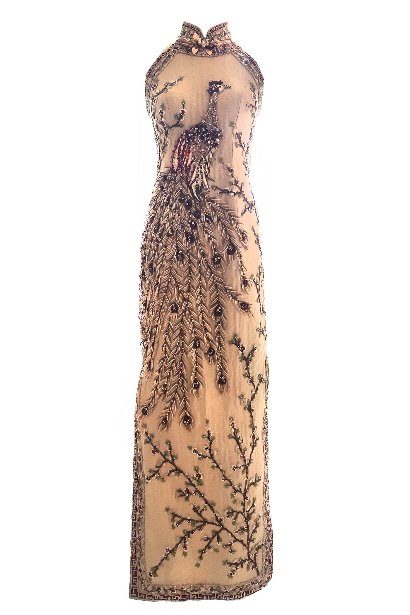 Rent : Private Label - Nude Phoenix Cheongsam Gown