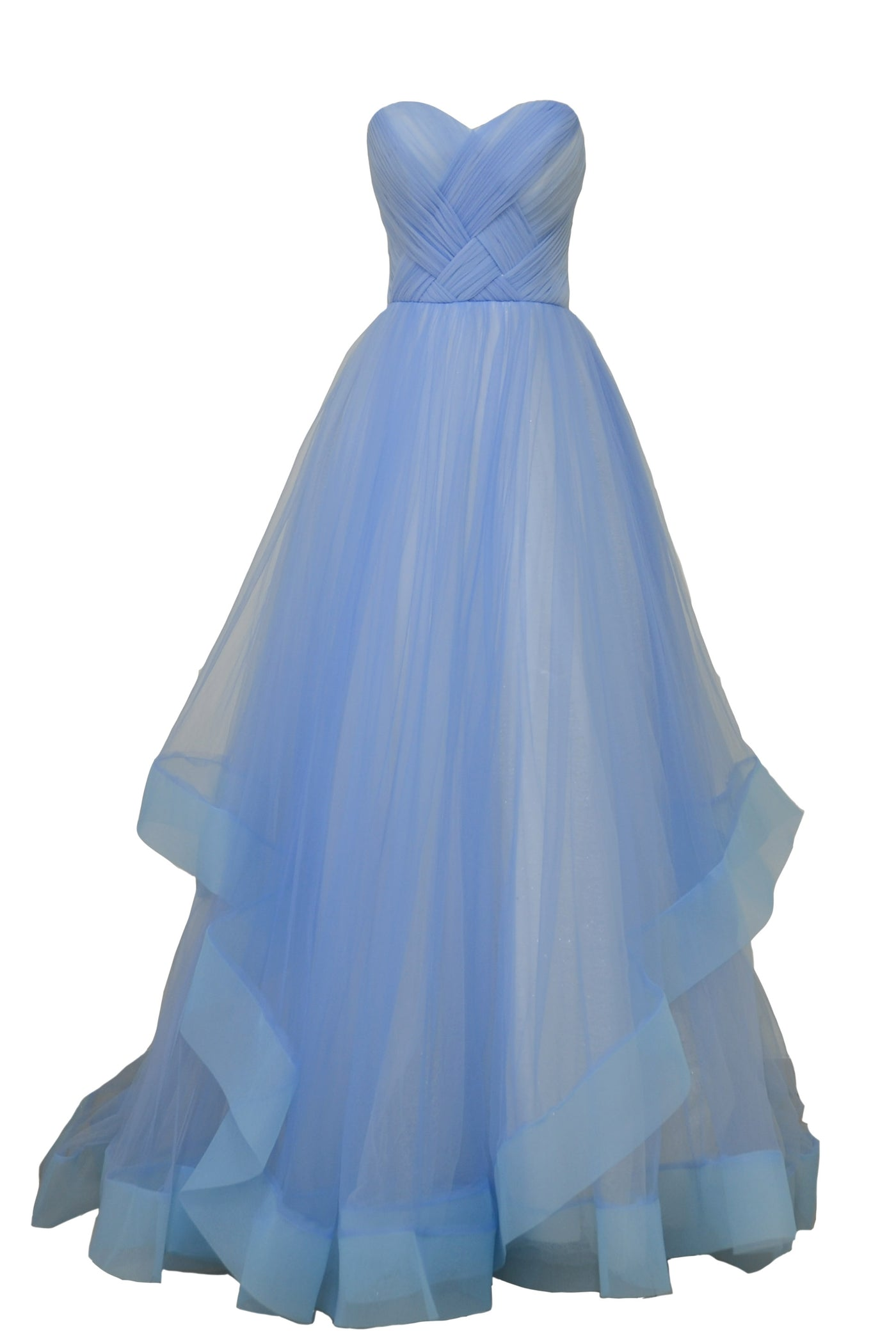 Rent: Private Label Blue Sweetheart Tulle Dress