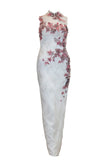 Rent: Private Label - Cheongsam Floral Embellishments Gown