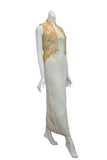 Rent: Private Label Cream Gold Cheongsam Dress
