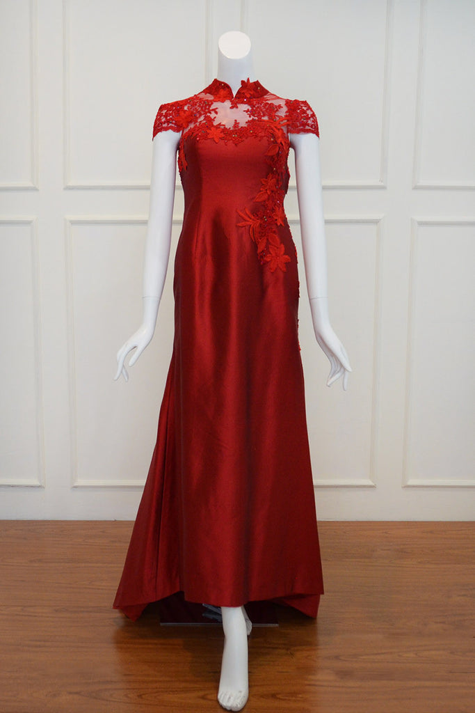 Rent: Private Label Red CheongSam Gown