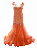 Reverie - Buy: Reverie Orange Gown-The Dresscodes - 3