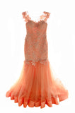Reverie - Buy: Reverie Orange Gown-The Dresscodes - 2