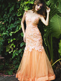 Reverie - Buy: Reverie Orange Gown-The Dresscodes - 1
