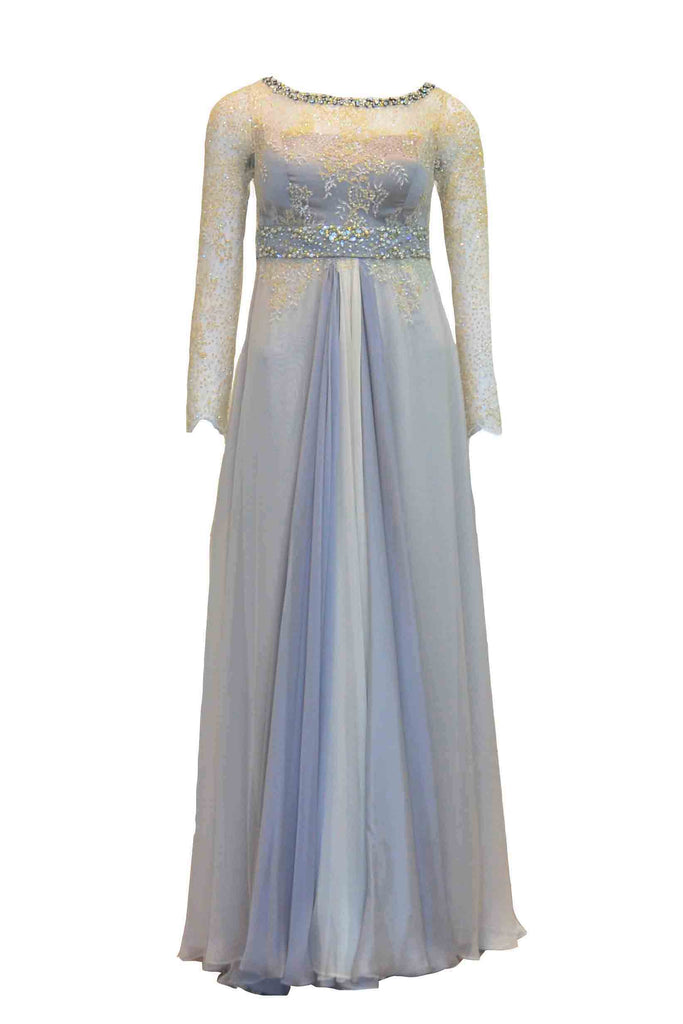 Rent: Rika Sulaiman - Silver Dress with Cream Nude Sequins