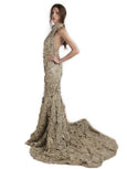 Rina Sugiri - Rent: Golden Mermaid Cheongsam Gown-The Dresscodes - 2