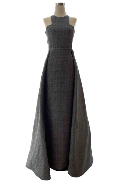 Rent: Stella Lunardy - Dark Grey Halter Ball Gown