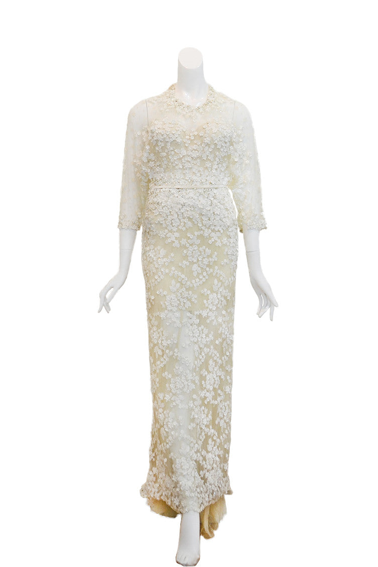 Rent: Sapto Djojokartiko 3/4 Sleeves Floral Wedding Dress
