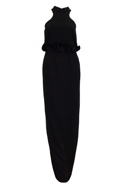 Rent: Sapto Djojokartiko Black Beaded Neck Dress