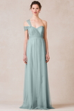 Rent: Jenny Yoo - Annabelle Soft Tulle Convertible Dress in Mayan Blue