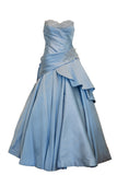 Rent: Sebastian Gunawan Metallic Blue Sweetheart Ball Gown