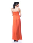 Red by Sebastian Gunawan - Buy: Orange Silk Chiffon Dress-The Dresscodes - 3