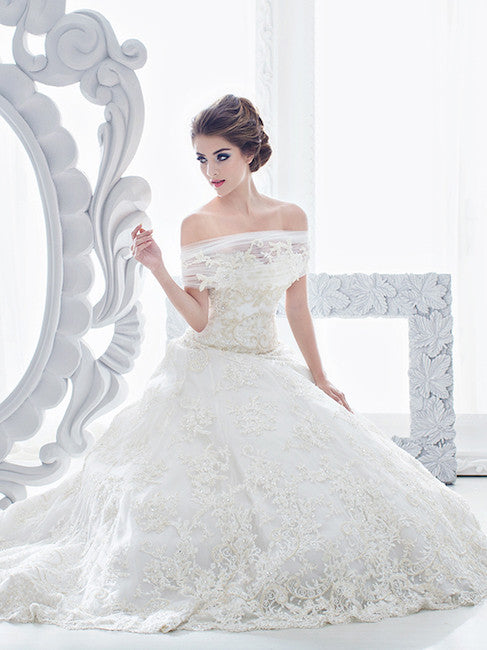 Sebastian Sposa - Rent: Sebastian Sposa Fully Beaded Ball Gown-The Dresscodes - 1