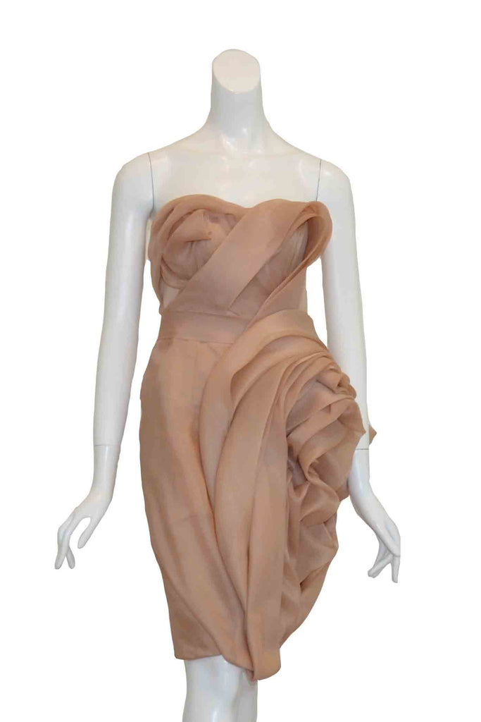 Sale: Soko Wiyanto Strapless Organza Dress