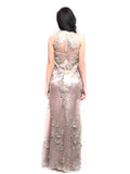 Stella Ong - Rent: Stella Ong Sleeveless Nude Dress with Rhinestones-The Dresscodes - 2