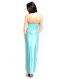 Stella Ong - Rent: Stella Ong Sky Blue Satin Gown with Slit-The Dresscodes - 2