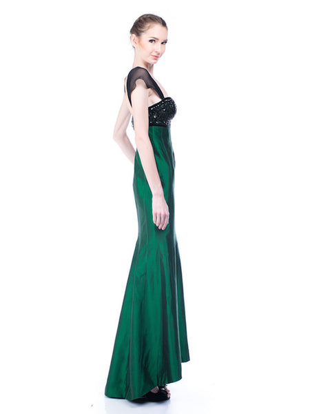 Stella Rissa - Buy: Emerald Green Dress-The Dresscodes - 1