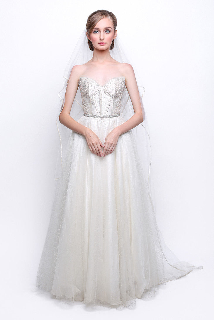 Stella Rissa - Rent: Pearl Strapless Wedding Gown-The Dresscodes - 1