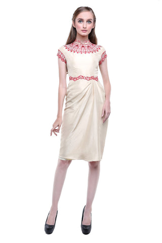 Buy: Studio 133 by Biyan Cream Red CheongSam