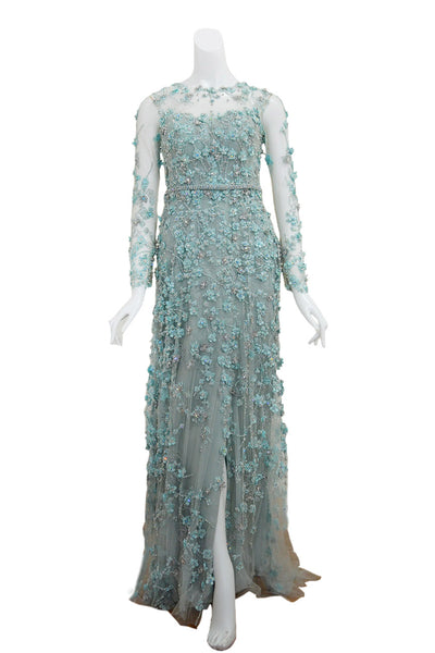 Rent: Studio Boh Blue Beaded Gown