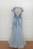 Rent: Susana Bridal Blue Beaded Gown