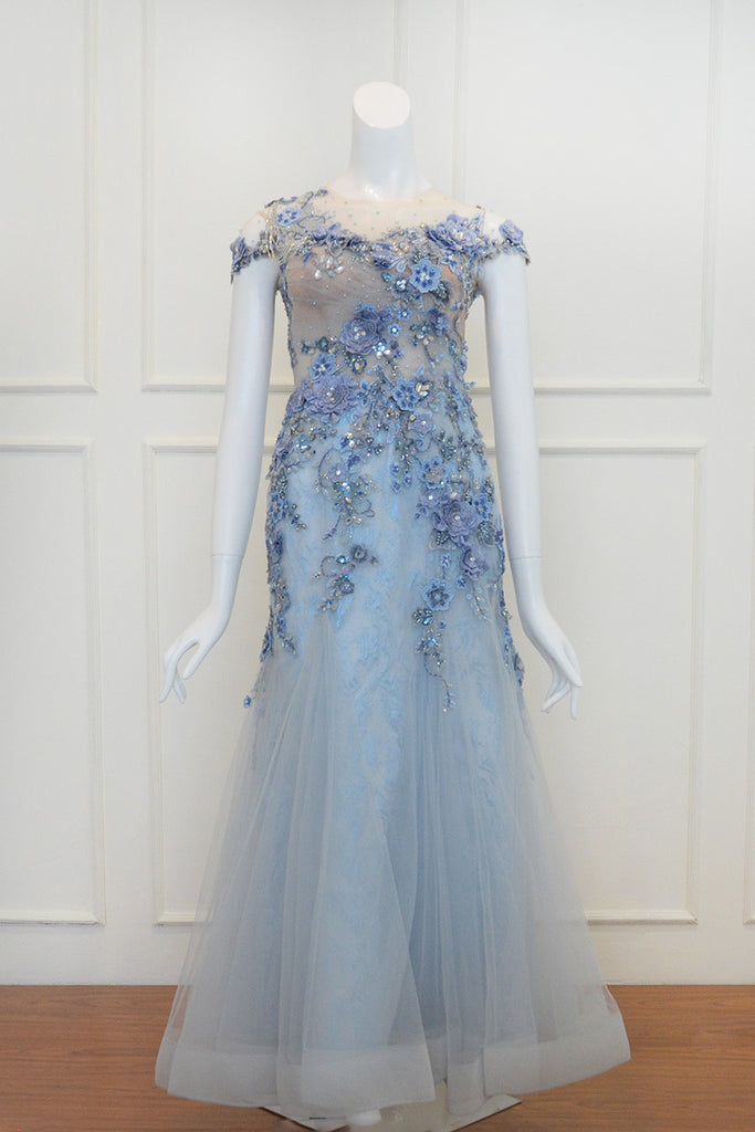 Buy: Susana Bridal Blue Beaded Gown
