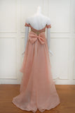 Rent: Susana Bridal Peach High Low Convertible Gown