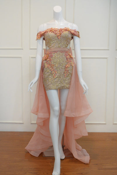 Buy: Susana Bridal Orange High Low Gown