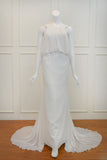 Rent: Swalro Draped White Maxi Dress