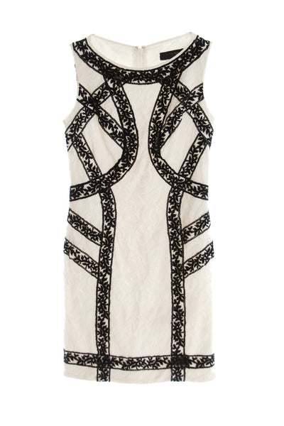 Tadashi Shoji - Buy: Black and White Lace Cocktail Dress-The Dresscodes - 1