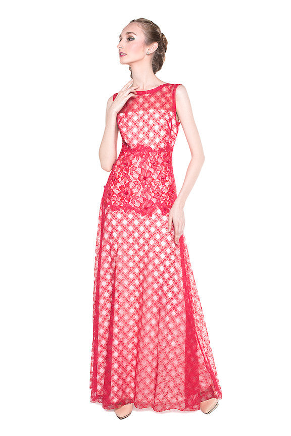 Tadashi Shoji - Buy: Red Maxi Dress-The Dresscodes - 1