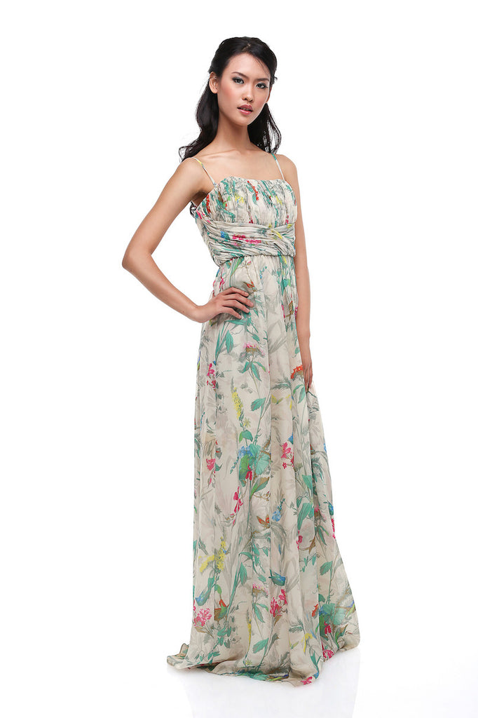 Ted Baker - Buy: Flower Print Strapless Chiffon Dress-The Dresscodes - 1