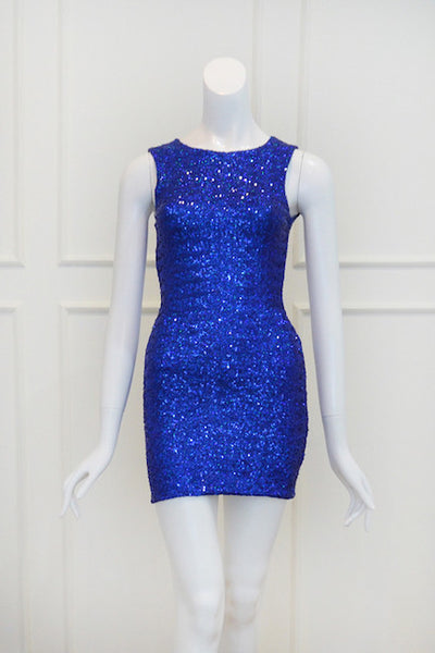 Sale: Topshop Blue Sequin Dress