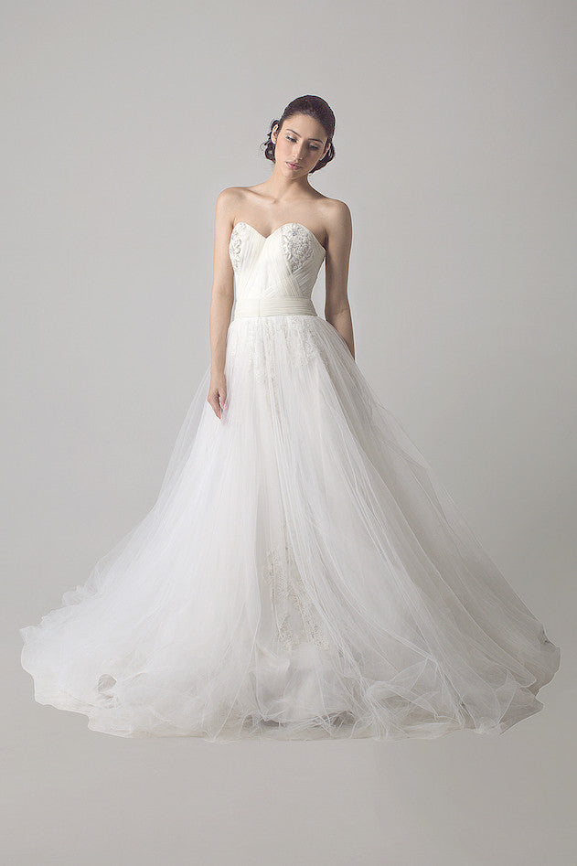 Verena Mia - Rent: Sweetheart Lace Tulle Wedding Ball Gown-The Dresscodes - 1