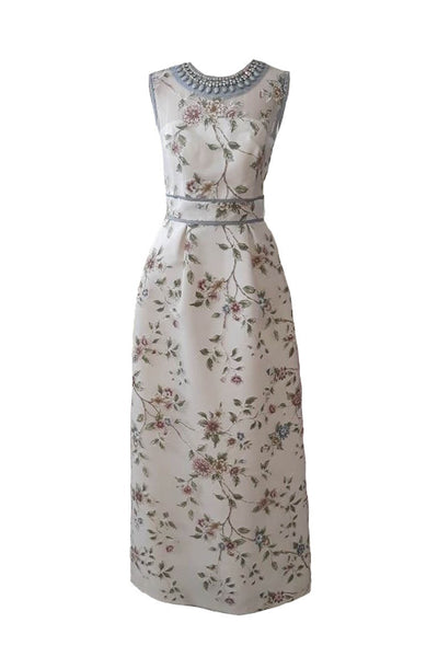 Rent: Votum by Sebastian - Full Flower with Beaded at Neck Dress