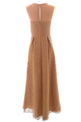 Rent: Votum by Sebastian - Gold Sleeveless Beaded at Neck Dress