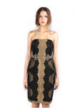 Votum by Sebastian Gunawan - Buy: Strapless Black Gold Lace Dress-The Dresscodes - 2