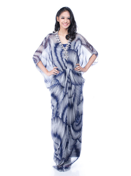 Votum by Sebastian Gunawan - Buy: Blue Print Kaftan-The Dresscodes - 1