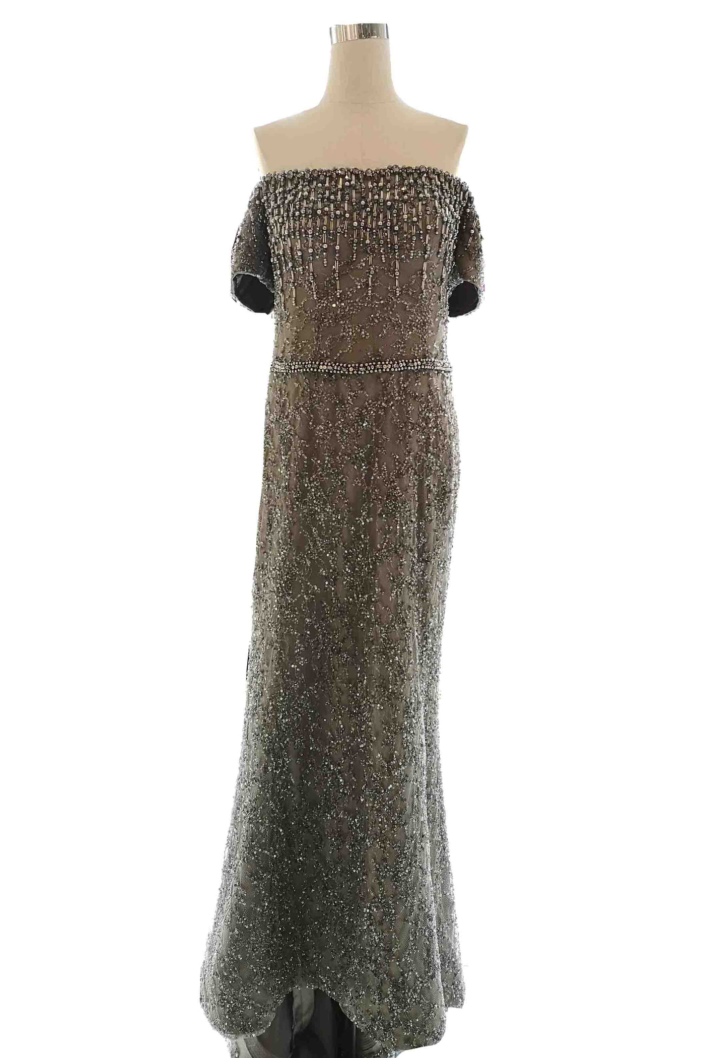 Rent: Winda Halomoan - Silver Sparkly Mermaid Gown