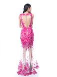 Windy Chandra Couture - Rent: Fuschia Tulle Gown-The Dresscodes - 3