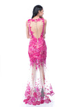 Windy Chandra Couture - Buy: Fuschia Tulle Leg Gown-The Dresscodes - 2