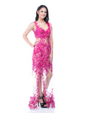 Windy Chandra Couture - Rent: Fuschia Tulle Gown-The Dresscodes - 2
