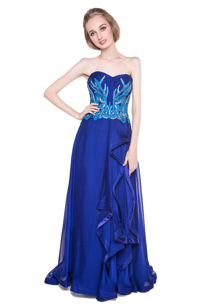 Windy Chandra Couture - Buy: Blue Ocean Gown-The Dresscodes - 1
